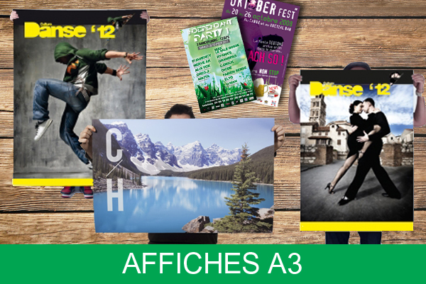 Affiches format A3