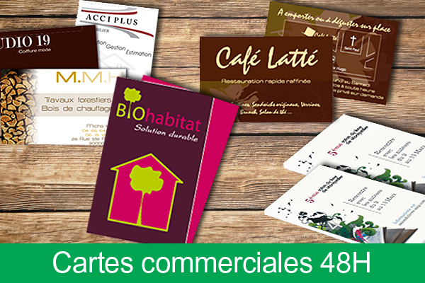 Cartes commerciales express 48h