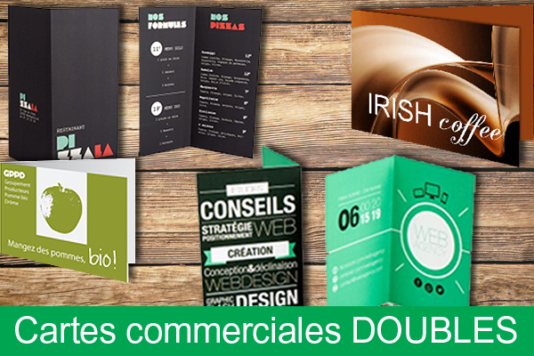 Carte commerciale double