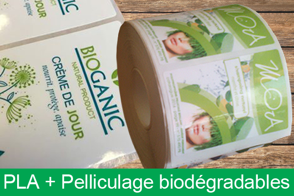 PLA biodegradable + pelliculage biodegradable