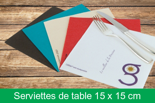 Serviette de table 15 x 15 cm