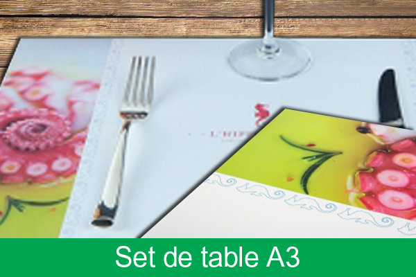 Set de table cologiques pour votre restaurant imprim s for Set de table papier pour restaurant